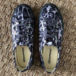 Superga Satin Animal Print Sneaker Sz 7.5 NWOT